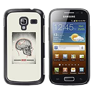 Paccase / SLIM PC / Aliminium Casa Carcasa Funda Case Cover - Skull Grey Anatomy Brain Medical - Samsung Galaxy Ace 2 I8160 Ace II X S7560M