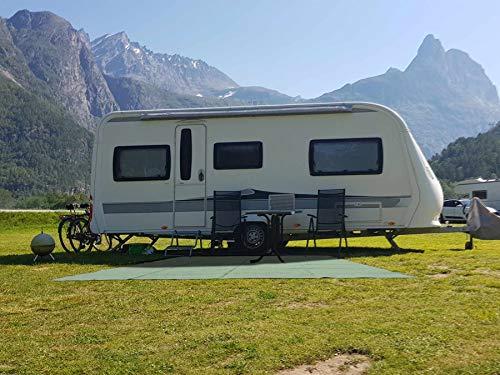 51GK9arwt L Vorzeltteppich Camping-Teppich - unterschiedliche Größen in Grün, Grau, Blau, Anthrazit - Weichschaum-Beschichtetes…