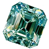 RINGJEWEL 1.54 ct VVS1 Asscher Cut Real Loose Moissanite Use 4 Pendant/Ring Off White Light Blueish Color