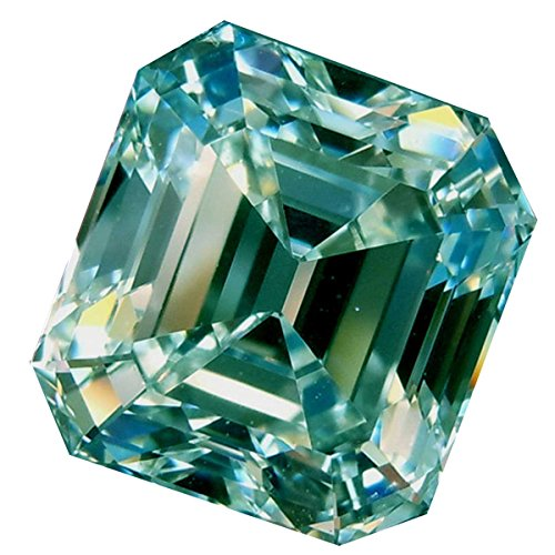 (RINGJEWEL 2.22 ct VVS1 Asscher Cut Loose Moissanite Use 4 Pendant/Ring Off White Ice Blue Color Stone)