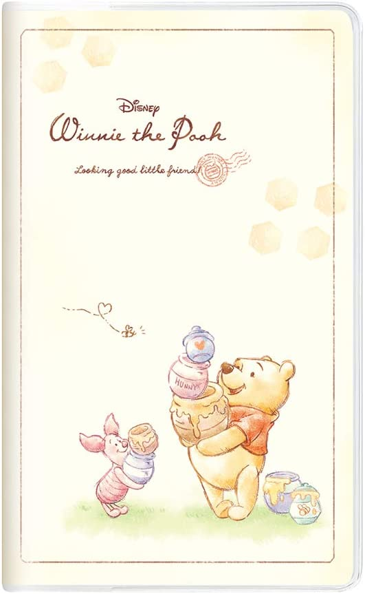 Amazon Com Dd Winnie The Pooh 2021 Planner Diary Book Japan Monthly Family Diary 19380 Size 10 5x17cm Office Products