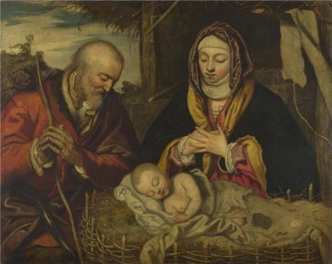 The Perfect Effect Canvas Of Oil Painting 'Follower Of Jacopo Tintoretto - The Nativity,about 1590' ,size: 20x25 Inch / 51x64 Cm ,this Reproductions Art Decorative Canvas Prints Is Fit For Garage Gallery Art And Home Decor And Gifts