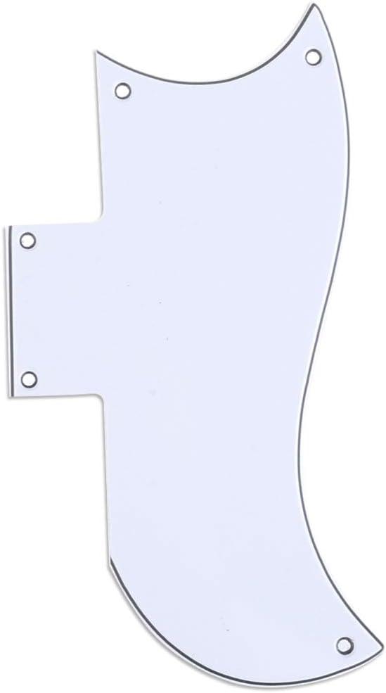 3plis Blanc Musiclily Pro 5 Trous Small Half Face Guitare Pickguard Plaque de Protection pour Gibson am/éricain SG
