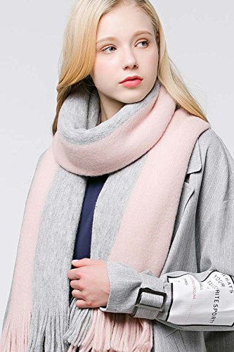 Generic Yi Cai knitted scarf autumn and winter in Europe and America women girls lady thick solid color ing long section of large air-conditioned rooms shawl dual Beautiful