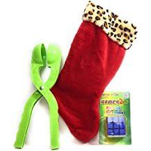Christmas Stocking 3 PC Gift Bundle With Magic Rubik's Cube and Green Snowball Maker
