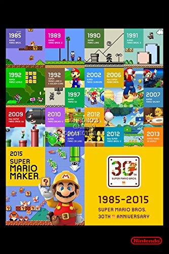 CGC Huge Poster - Super Mario Maker - Nintendo Wii U - SMM005 (24' X 36')