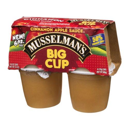 Musselman's Apple Sauce Big Cup Cinnamon - 4 CT