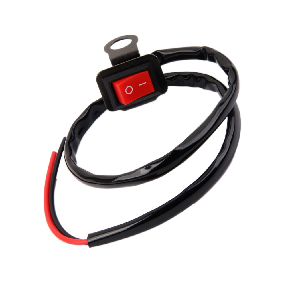 Generic Motorcycle Atv Bike Handlebar Hazard Light On Off Switch Quad Headlight Rearview Mirror Wire Button Car Motorbike
