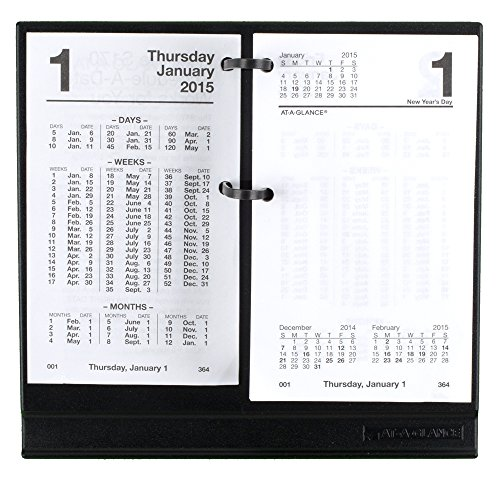 AT-A-GLANCE Loose-Leaf Financial Daily Desk Calendar Refill 2015, For #E21 Base, 3.5 x 6 Inch Page Size (S170-50)