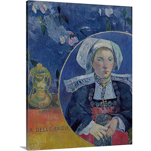 (GREATBIGCANVAS Gallery-Wrapped Canvas Entitled The Beautiful Angel by Paul Gauguin)