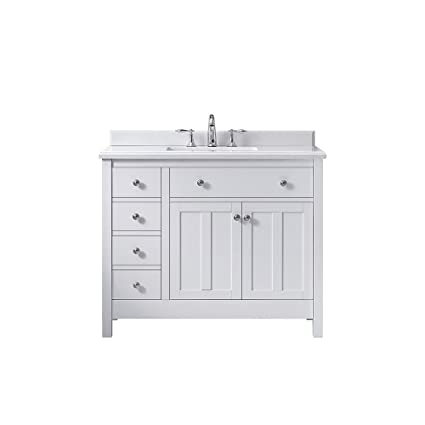 Ove Decors Newcastle 42 Pure White Freestanding Vanity