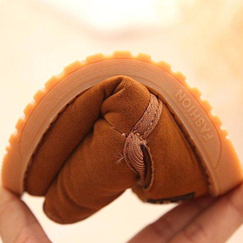 Tefamore Zapatos Patucos de Invierno Soft Sole de Algodón para Bebés marrón
