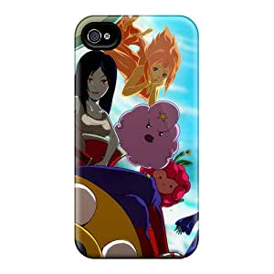 Premium [aJS3036caYy]adventure Time Characters Case For Iphone 4/4s- Eco-friendly Packaging