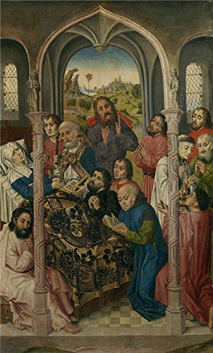 Oil Painting 'Maestro De Sopetran Transito De La Virgen Ca. 1470 ' Printing On High Quality Polyster Canvas , 8 X 13 Inch / 20 X 34 Cm ,the Best (Restoration Comedy Costumes)