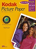 Kodak 1124346 Picture Paper, Soft Gloss, 8.5inx11in, 25 Sheets