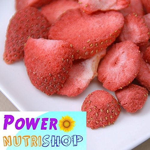 (8 oz) All Natural Freeze Dried Sliced Strawberries,NO Preservatives,NO sweetener by PowerNutri Shop (Image #2)