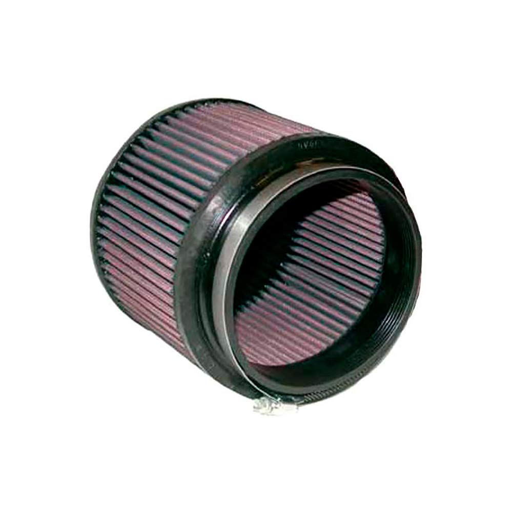 89 mm K/&N RU-5111 Universal Clamp-On Air Filter: Round Tapered; 3 in Base; 3.5 in Height; 4.5 in 114 mm 146 mm 76 mm Top Flange ID; 5.75 in