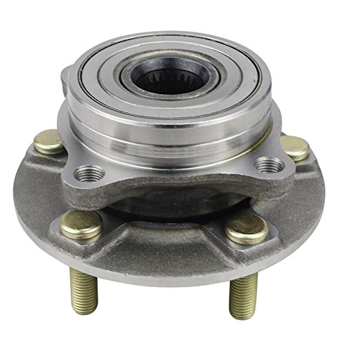 Dodge Stealth Wheel Bearing - CRS NT513133 New Wheel Bearing Hub Assembly, Front Left (Driver)/ Right (Passenger), for Dodge Stealth 1991-1996, Mitsubishi 1991-1999 3000GT/ 2003-2006 Lancer, AWD, w/o ABS