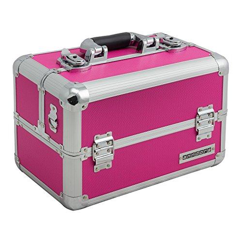 Aluminium-Multikoffer Etagenkoffer Pink - 201504