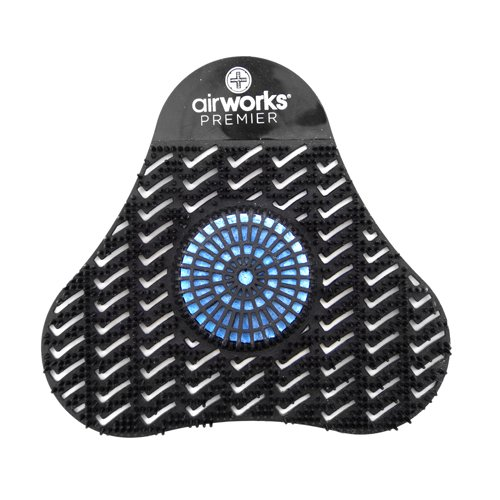 AirWorks AWSP235 Premier Urinal Screen with Block, Midnight Sky, Black, 5