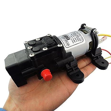 uniquegoods 12/V DC 100PSI 4L//Min diafragma Auto Bomba de agua Semilla alta presi/ón para coche Boat HHO
