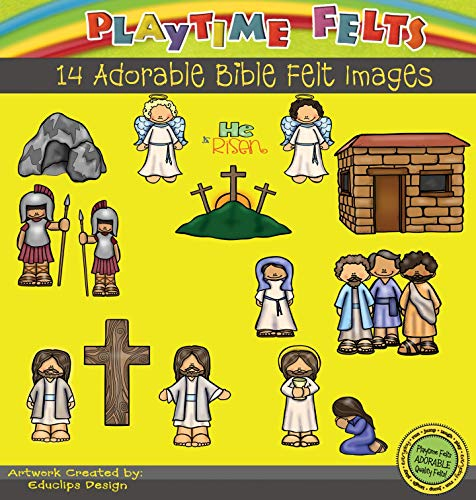 (Playtime Felts He is Risen Bible Story Set for Flannel Board - Uncut)