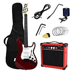 "Everything you need to start playingThis kit includes everything you need to start playingFull-size 39"" electric guitar20W amplifierDigital clip-on tuner6 strings2 picksTremolo barShoulder strapCarrying bag20W AmplifierThis 20W amplifier is p..."