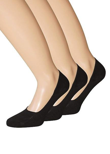 39-42 Ballerina Socken Fußlinge schwarz  Gr