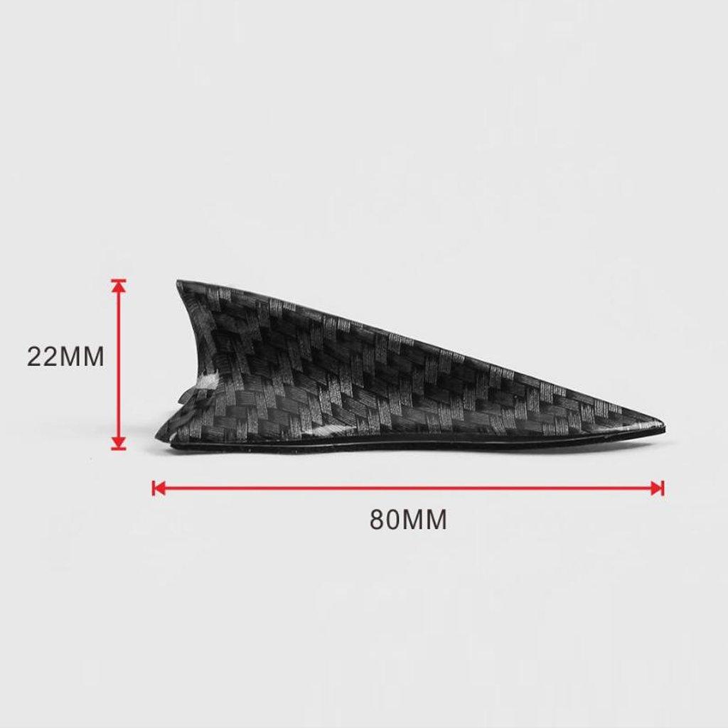 Carbon Pattern 10 Pieces Air Vortex Generator Diffuser Spoiler Roof Shark Fin ABS Plastic