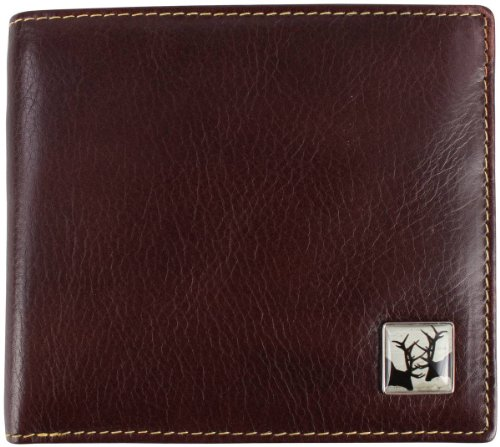 Leather Bill Tyler and Stags Tyler Brown Wallet Rutting Fold qxfEBpHw4X
