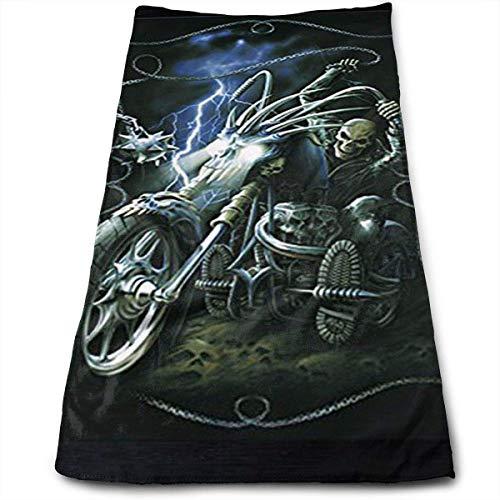 Bizwheo Ghost Rider Microfiber Towel Luxury Bathroom Hand Towel Eco-Friendly and Long Stable