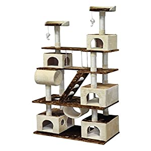 Go Pet Club Huge 87.5 in. Cat Tree Condo House Furniture by Go Pet Club LLC
