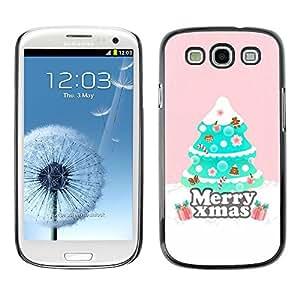 [Neutron-Star] Snap-on Series Teléfono Carcasa Funda Case Caso para Samsung Galaxy S3 [Árbol de Navidad Rosa de invierno]