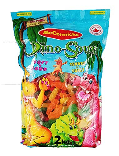 McCormicks - Soft and Sour Dino-Sours Gummy Candy - 2kg/70.5oz (Imported from Canada) by McCormicks