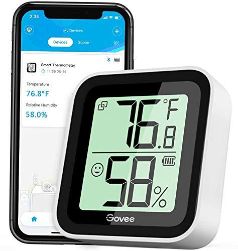 Govee Humidity Meter, Mini Bluetooth Hygrometer Thermometer with App Alert & Data Storage, Indoor Digital Temperature…