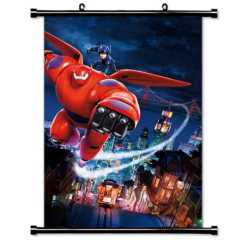 Big Hero 6 Movie Fabric Wall Scroll Poster  Inches