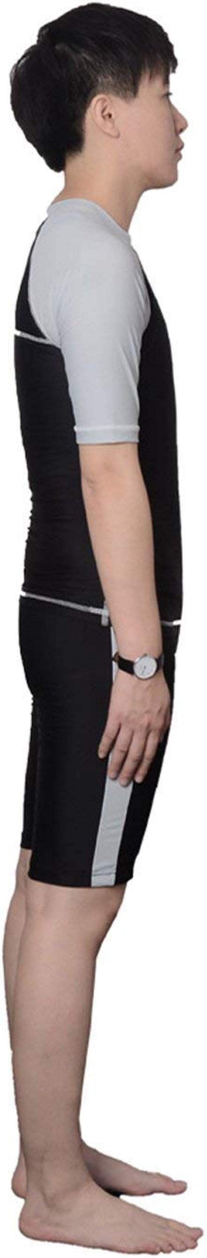 BaronHong Women Lesbian Tomboy Chest Binder Quick-Drying Swimwear Set Top+Swimming Pants 39853963379-swimwear