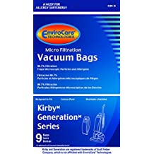 Kirby- Generation 1,2,3,4,5,6, Ultimate G And Sentria Allergen Filtration Bags Pkg Of 9