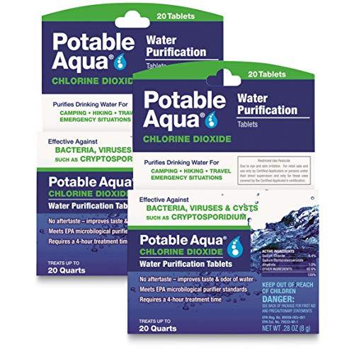 Potable Aqua 40-ct Chlorine Dioxide Water Purification Tablets