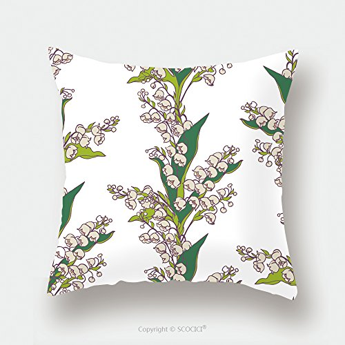Custom Satin Pillowcase Protector Seamless Vector Pattern Bouquets Of Flowers Lily Valley On White Background 299458604 Pillow Case Covers Decorative by chaoran