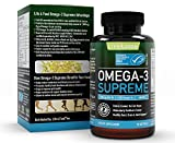 Omega 3 Supreme Strength Fish Oil Supplement (90 Softgels) 1400 mg | 644/336 with +75% Omega-3s MSC Certified, 3rd Party Tested - NO Fish-Burps & Improved Absorption