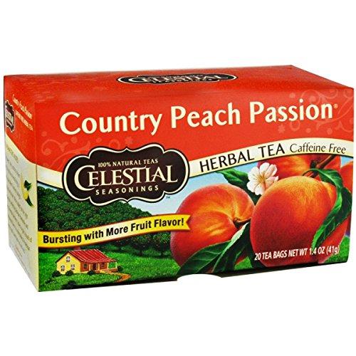 Celestial Seasonings 630194 Celestial Seasonings Herbal Tea Caffeine Free Country Peach Passion - 20 Tea Bags - Case of - Tea Caffeine Peach Free