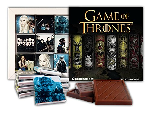 DA CHOCOLATE Souvenir Candy GAME OF THRONES Chocolate Gift Set Famous TV series design 5x5in 1 box (Banners)