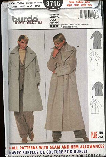 Amazon Burda Sewing Pattern 8716 Misses Size 1012 2224 Loose