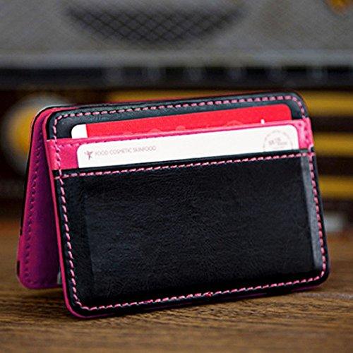 Argent Amison Bifold Sac Clip Portefeuille Titulaire Cuir Mini Magie Luxe Neutre Rosa Caldo Carte Pu pwpPAqRZ