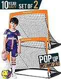 Dimples Excel Pro Portable Soccer Goal, Instant Pop-Up Net, Easy Fold-Up, Kids Soccer Training for Backyard