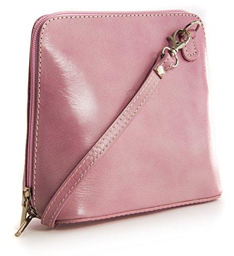 Big Handbag Shop, Borsa a tracolla donna One Rosa (Rosa - Baby Pink)