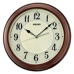 Seiko Wood Wall Clock (Model: QXA667BLH)