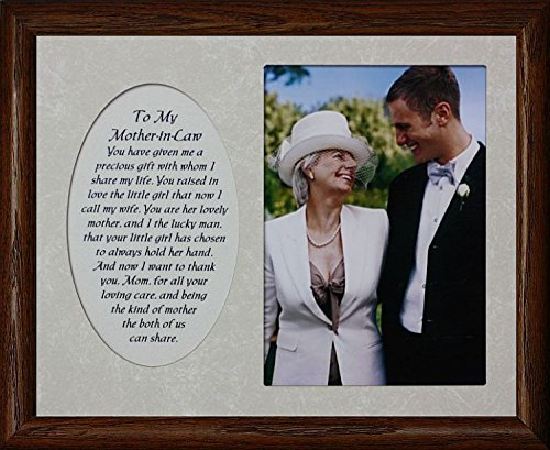 8x10 TO MY MOTHER-IN-LAW ~ From SON-IN-LAW Photo & Poetry Frame ~ Holds a Portrait 5x7 Picture (WALNUT) (Photo Law)