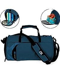 Fitness Sport Bolso Pequeño para Gimnasio con Compartimento para Zapatos y Bolsa Impermeable para Viaje para Mujeres y Hombres